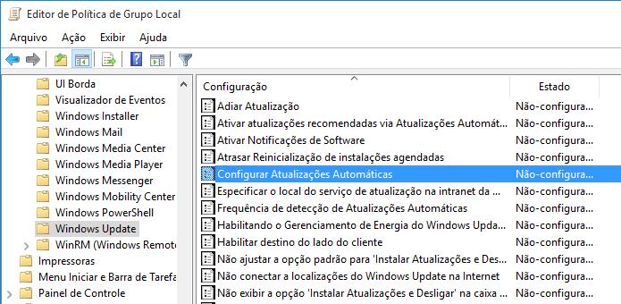 configurar atualizações automáticas no windows